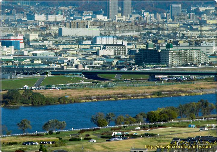 通常の淀川の様子 2008年12月6日 9時半頃