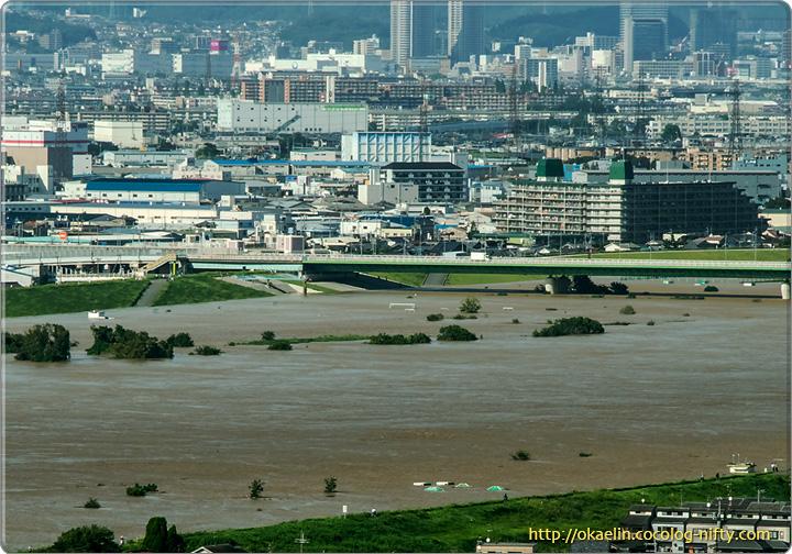 今日の淀川の様子 2013年9月16日 15時頃