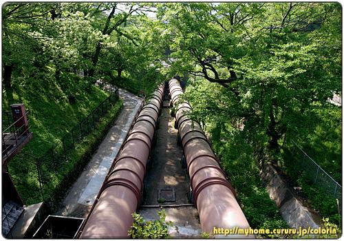 水力発電用の導水管