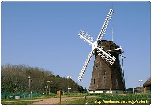 花博記念公園鶴見緑地のシンボルでもある風車